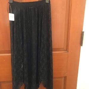 Free People Black Lace Skirt
